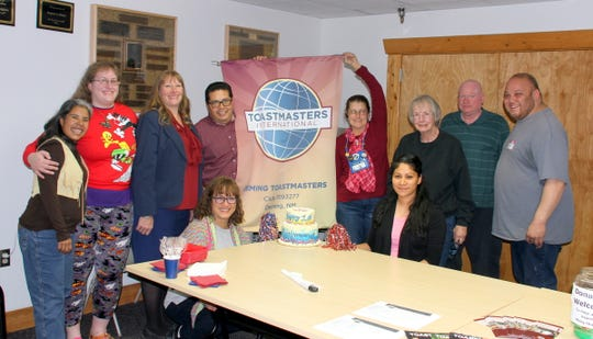 Deming Toastmasters members celebrated their one-year anniversary at the Marshall Memorial Library in Deming. Members meet at 6 p.m. on Wednesdays.