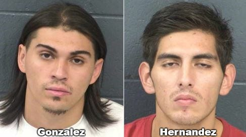 Anthony Gonzalez, 22, and Michael Hernandez, 23, are each charged with one second-degree felony count of armed robbery and one third-degree felony count of conspiracy to commit armed robbery.