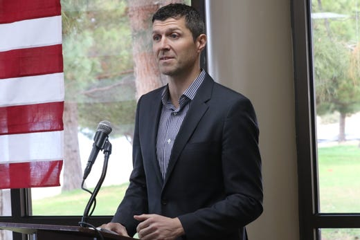 Executive Director of the New Mexico Oil and Gas Association Ryan Flynn addresses attendees at a luncheon, Dec. 12, 2019 in Carlsbad.