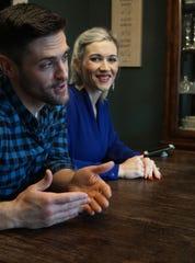 Aaron Noble met his fiance Courtney Mathews on the set of Christmas Coupon.