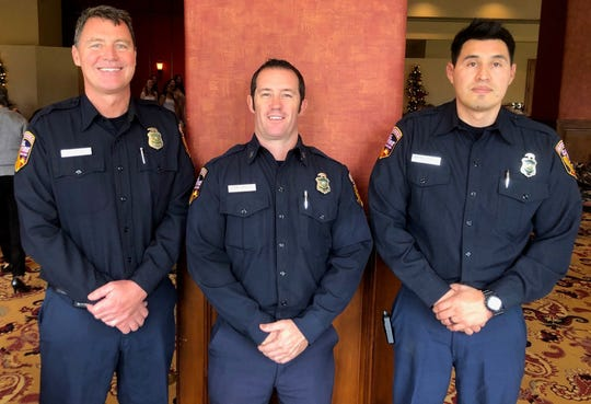 Firefighters Greg Moore, Captain James Hinkle and Amos Machado represented Indian Wells station 55.