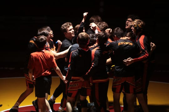 Palm Desert High School varsity wrestling team beat Shadow Hills in Palm Desert, Calif., on December 11, 2019.