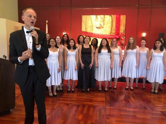 The Rancho Mirage High School Choir performed under the leadership of Andrew Eisenmann.