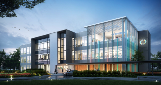 An architect's rendering of Pen Air Federal Credit Union's new corporate campus headquarters.