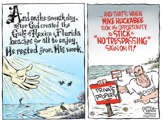 God created the Gulf of Mexico. And then Mike Huckabee showed up...