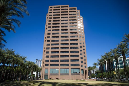 Exterior of the building that houses the Arizona Public Service Company in downtown Phoenix, Tuesday morning, Dec. 10, 2019.