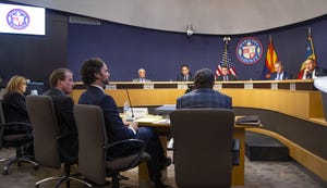 The Maricopa County Board of Supervisors meet in a 2019 session. The elected officials help oversee elections in the county.