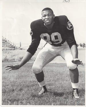Joe McDonald, a former ASU associate athletic director and principal of Desert Vista High School, pictured during his time as an ASU football player.