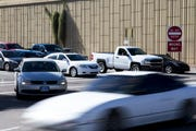 Vehicles pass through the intersection at Interstate 10 and Baseline Road in Tempe on Dec. 10, 2019.