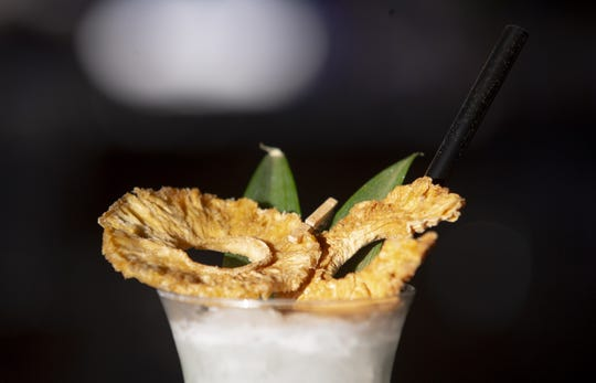 Coco Chanel, a cocktail from Chauncey Social in Scottsdale, is made of Bacardi superior, coconut cream, pineapple, and orange.