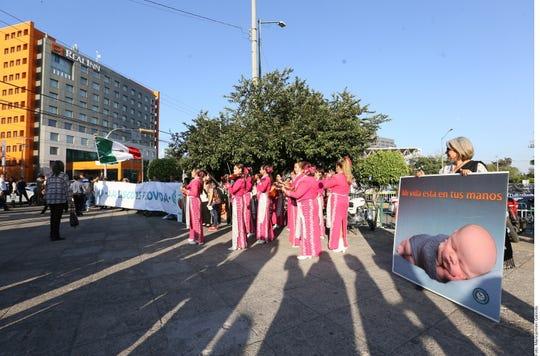 Protesta en contra del aborto en México.