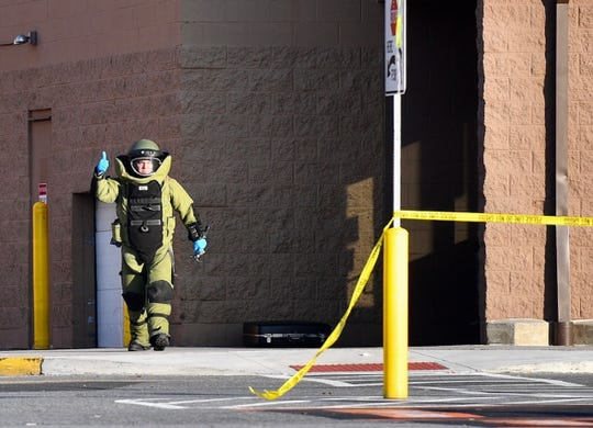The Springettsbury Twp. Walmart was evacuated the afternoon of Thursday, Dec. 12, 2019, after someone inside reported finding a suspicious package, police said. (Dawn J. Sagert photo)