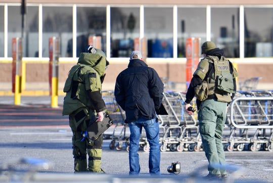 The Springettsbury Township Walmart was evacuated the afternoon of Thursday, Dec. 12, 2019, after someone inside reported finding a suspicious package. (Dawn J. Sagert photo)