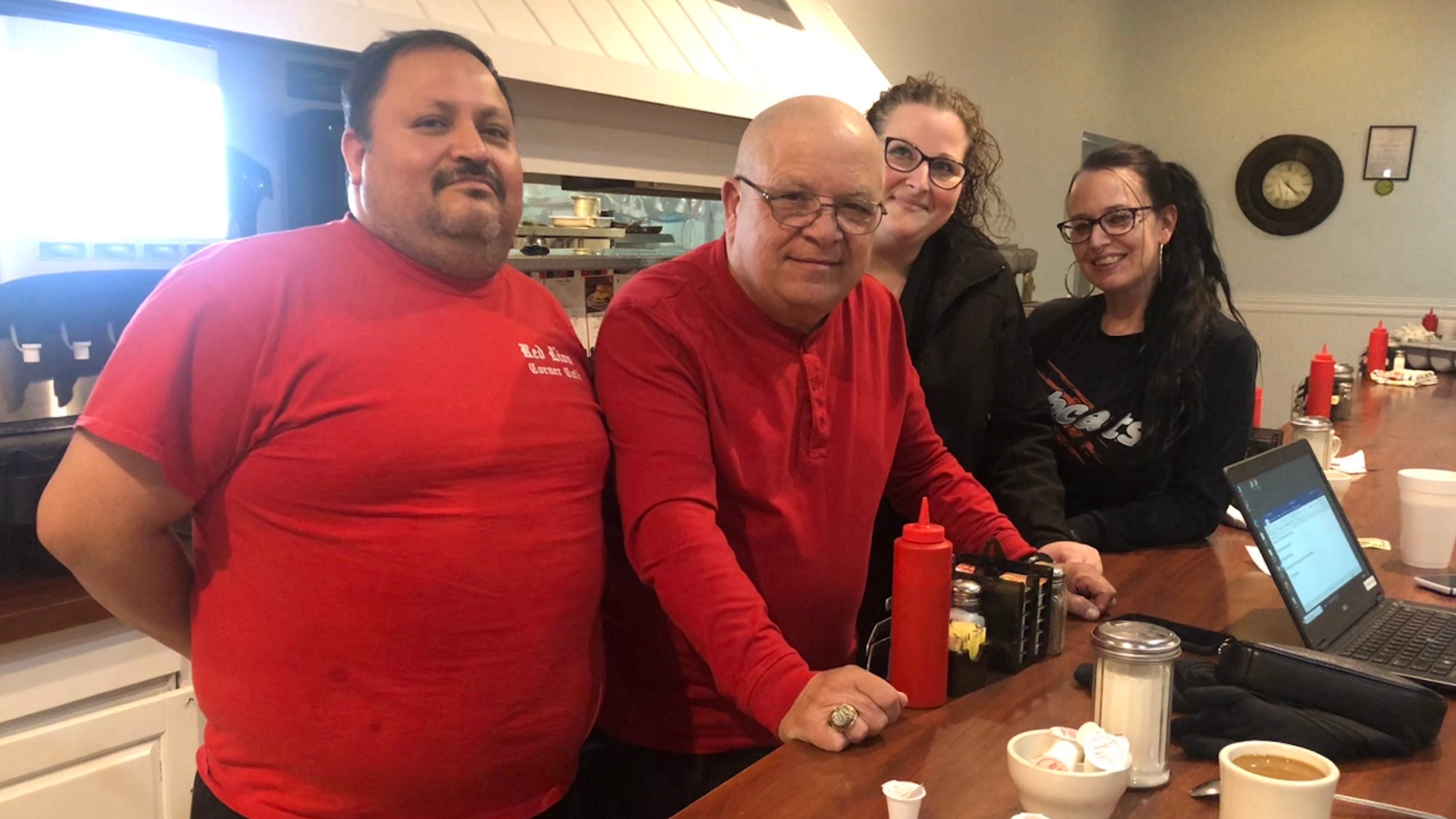 Red Lion waitresses deciding who deserves a gift
