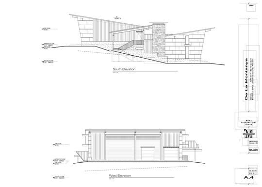 De La Montanya Winery planned for South Reno includes a tasting and barrel room with terrace.
