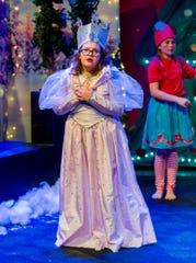 "Katie Groth portrays Glinda in the ""Christmas Wizard of Oz."""