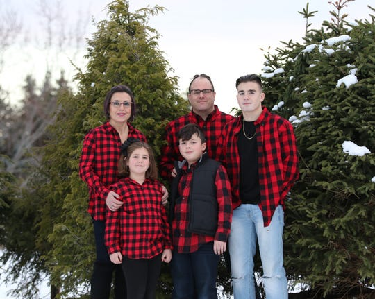 The Ray family at Cobble Creek Farm during Christmastime 2018.
