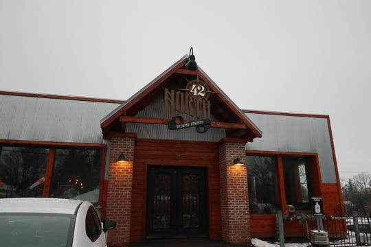 The main entrance of 42 North Brewing  in East Aurora, Erie County.