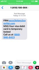 There are reports of recent phishing texts in Bossier.