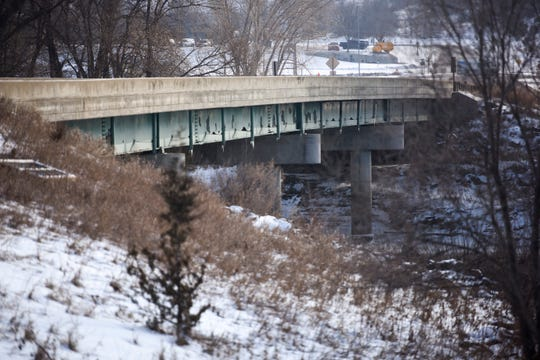 The N. Bahnson Avenue bridge is seen on Thursday, Dec. 12, 2019 in Sioux Falls. The structure will undergo repairs next year as a part of the state's Bridge Improvement Grant program.