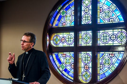 Rev. Donald DeGrood is named the ninth bishop of the Diocese of Sioux Falls during a press conference on Thursday, Dec. 12, 2019 at the Catholic Pastoral Center.