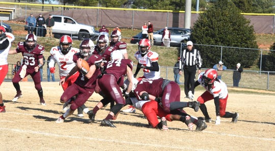 Dustyn Fitzgerald finished with 109 yards in Stuarts Draft's state semifinal win Saturday.