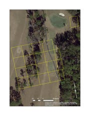 This grid represents the area searched by the National Park Service as they used a cadaver dog and ground penetrating radar to determine if there is a burial ground beneath an area near the 7th hole of the Capital City Country Club.