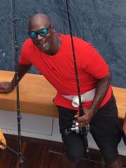 Michael Jordan, while fishing aboard Stuart Big Game Fishing Charters in 2017, is enjoying becoming a sailfish angler.