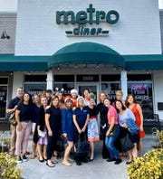 A group of 17 Treasure Coast residents surprised two Metro Diner servers with a generous $850 tip for Christmas after having lunch at the restaurant in Stuart on Wednesday, Dec. 11.