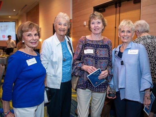 Pat Tiemeyer, left, Doris Hofmann, Nancy Cassell and Sherrie Swygert attending the Wings of Hope Luncheon.