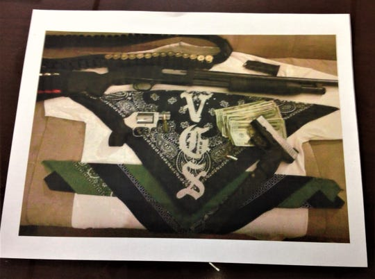 An FBI photo in a drug case involving the Varrio Glenwood Street, or VGS, gang in El Paso in 2016.