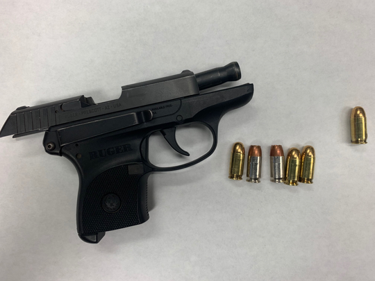A firearm and ammunition seized from a juvenile in Oxnard on Wednesday night.