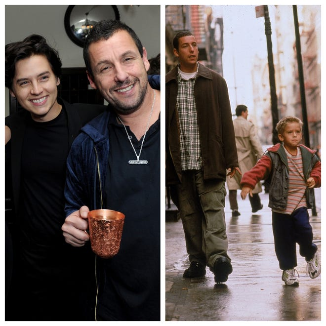 Adam Sandler Cole Sprouse Reunite 20 Years After Big Daddy
