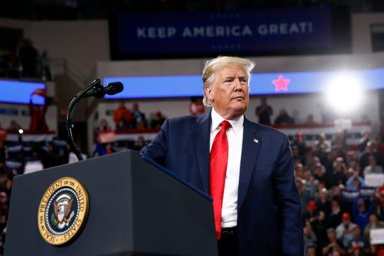 President Donald Trump has scoffed at Democrats' impeachment efforts.