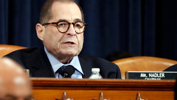 House Judiciary Committee Chairman Rep. Jerrold Nadler, D-N.Y., speaks during a House Judiciary Committee markup of the articles of impeachment against President Donald Trump.