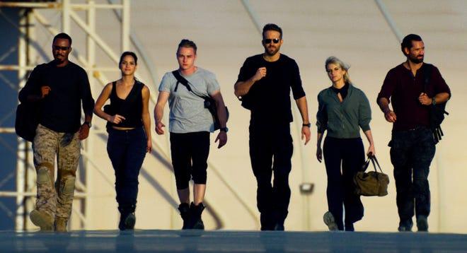 "Corey Hawkins, Adria Arjona, Ben Hardy, Ryan Reynolds, Melanie Laurent and Manuel Garcia-Rulfo make up the mysterious six agents in ""6 Underground."""