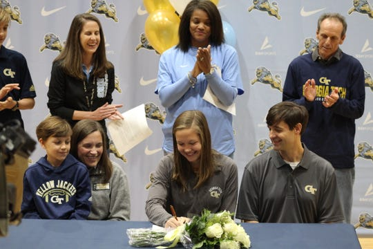 Mari Cagle Lockhart signed to Georgia Tech on December 13, 2019 at Daniel High School.