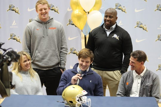 Tyler Venables was honored for his commitment to Clemson football on December 13, 2019 at Daniel High School.