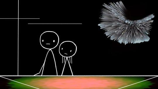 "A scene from Don Hertzfeldt's Oscar-nominated short ""World of Tomorrow."""
