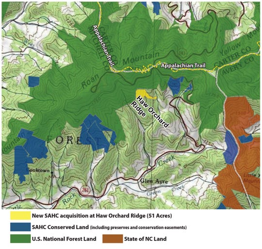 The Southern Appalachian Highlands Conservancy has purchased 51 acres in the Highlands of Roan to protect rare spruce-fir habitat.