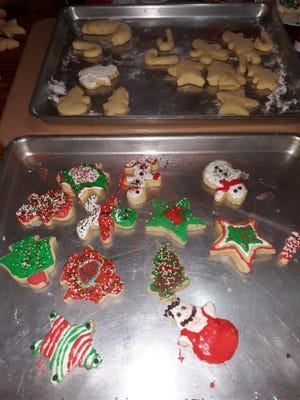 Lovina enjoyed decorating Christmas cut out cookies with her grandchildren. Find the recipe in this week's column.