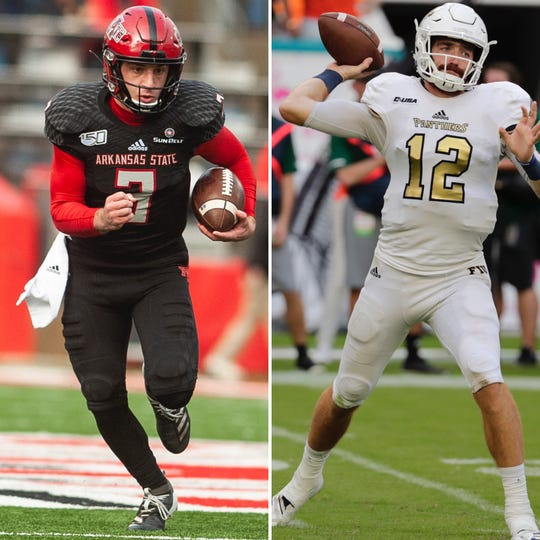 Arkansas State's Layne Hatcher goes up against FIU's James Morgan in a battle of big-time quarterbacks.