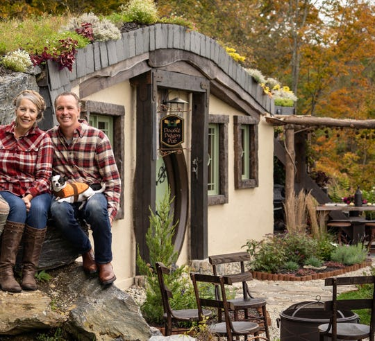 Cynthia and Pepper Clayton designed and built this 'Hobbit Home' Airbnb rental in Middletown Springs, Vermont