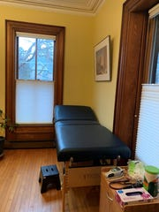Travis Elliott's examination room in Shelburne, where he offers the bioresonance test.
