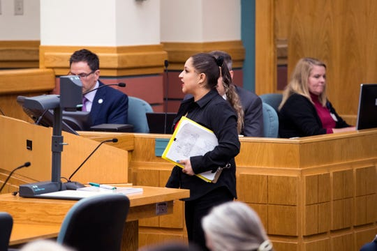 Priscilla Rivera collected 700 signatures opposing a homeless shelter at the old Lamar Elementary School. She spoke at city council on Tuesday, December 10, 2019, and asked council to not approve the shelter.