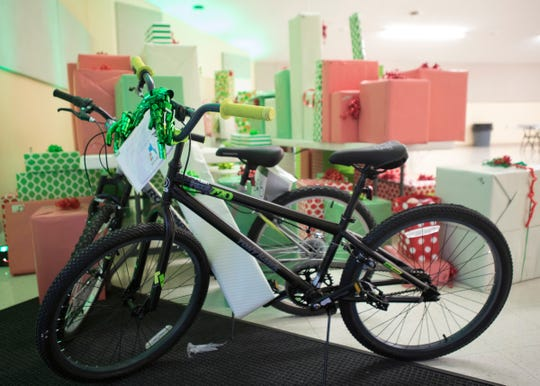 Bikes were among the variety of gifts waiting for various foster children at the Ross County Fairgrounds on Dec. 12, 2019.