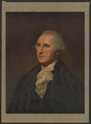 Portrait of George Washington by Charles Wilson Peale.