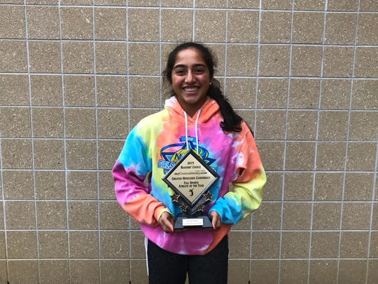 East Brunswick tennis player Naomi Karki was voted the 2019 GMC Fall Sports Athlete of the Year.