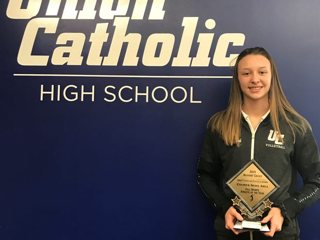 Union Catholic volleyball player Alexandra Kwasnik was voted the 2019 Courier News Fall Sports Athlete of the Year.