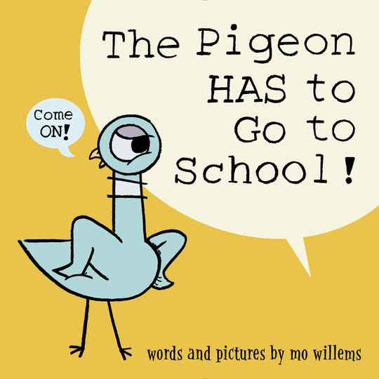 """""""The Pigeon HAS to Go to School"""" by Mo Willems was the top children's picture book at the Des Moines Public Library this year, based on number of hold requests."""